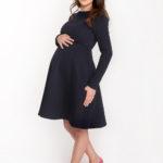 Фото: Черное платье для будущих мам Azurro ( хлопок тисненый с начесом)