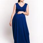 Фото: длинный сарафан Sofi для беременных и кормящих мам