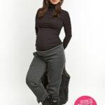 Фото: модная одежда для беременных, штаны теплые premium