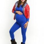 Фото: Синие модные лосины для беременных женщин Bright (хлопок)
