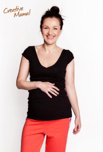 Фото: Черная футболка для будущих мам Modern