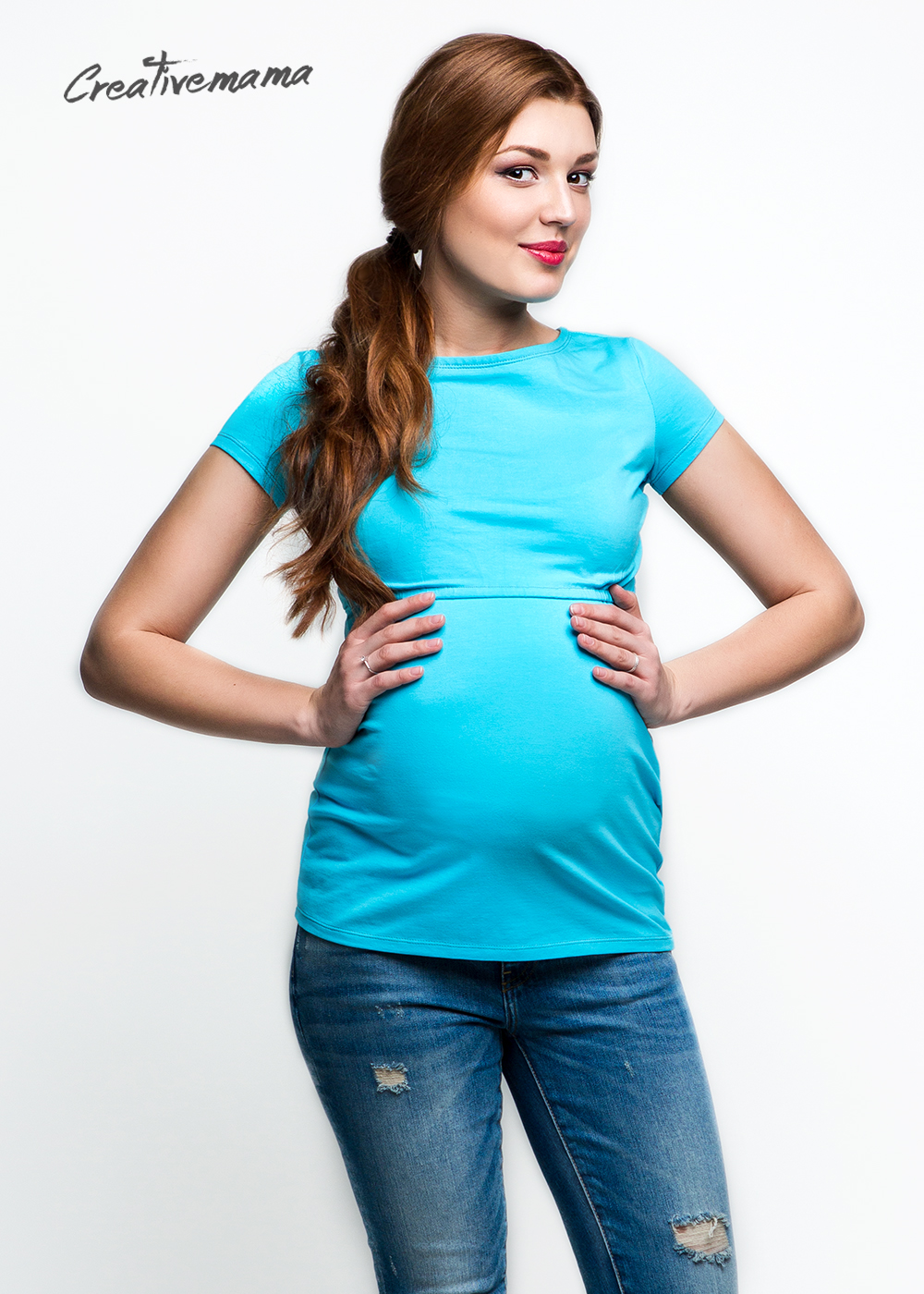 Фото: Футболка Urban blue для беременных женщин - 2