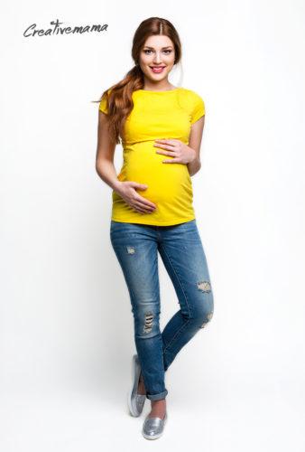 Фото: Футболка Urban (желтый хлопок) для беременных