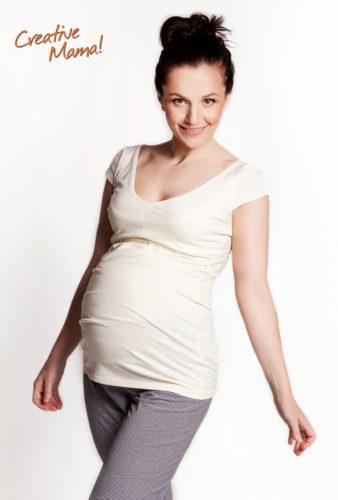 Фото: Модная футболка для будущих и кормящих мам Modern (шампань)