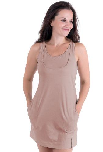 Фото: Длинная майка для беременных и кормящих грудью Natural