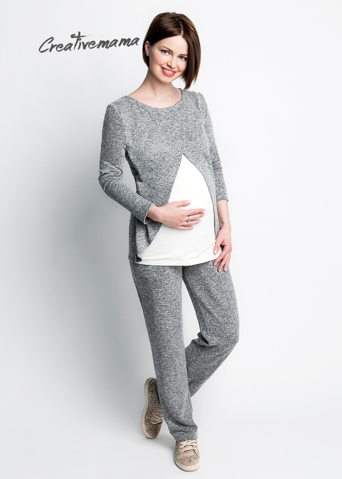 Фото: одежда для будущих мамочек, Спортивный Костюм Double для беременной женщины