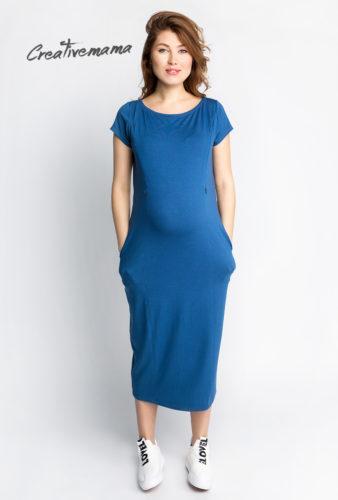 Фото: Синее спортивное платье для беременных In love