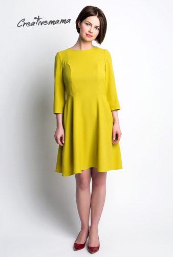 Фото: Короткое оливковое платье для будущих мамочек Olivka