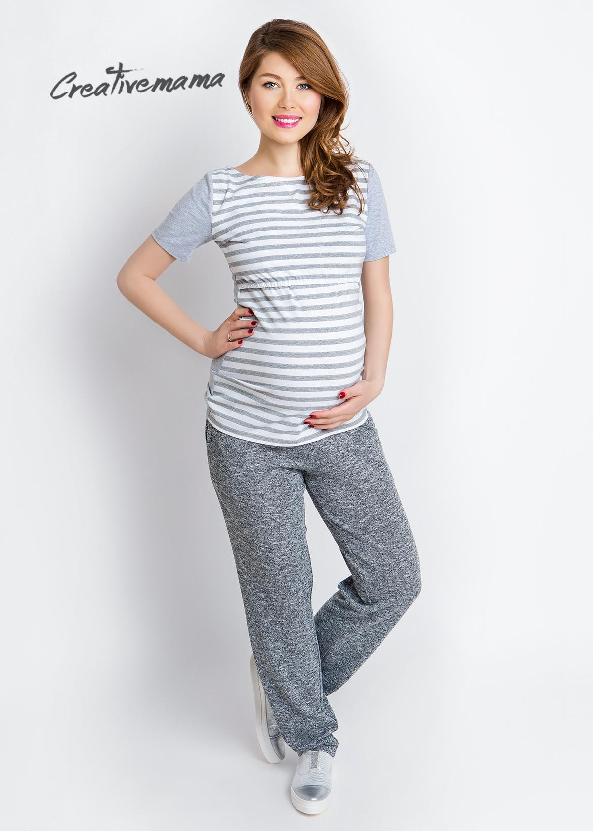 Фото: Серые удобные штаны для беременных Comfort