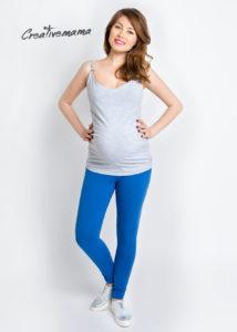 Фото: Синие леггинсы для беременных женщин Djins