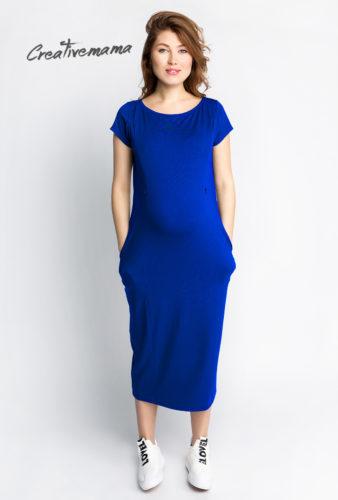 Фото: Ярко синее спортивное платье для беременных Mayorka