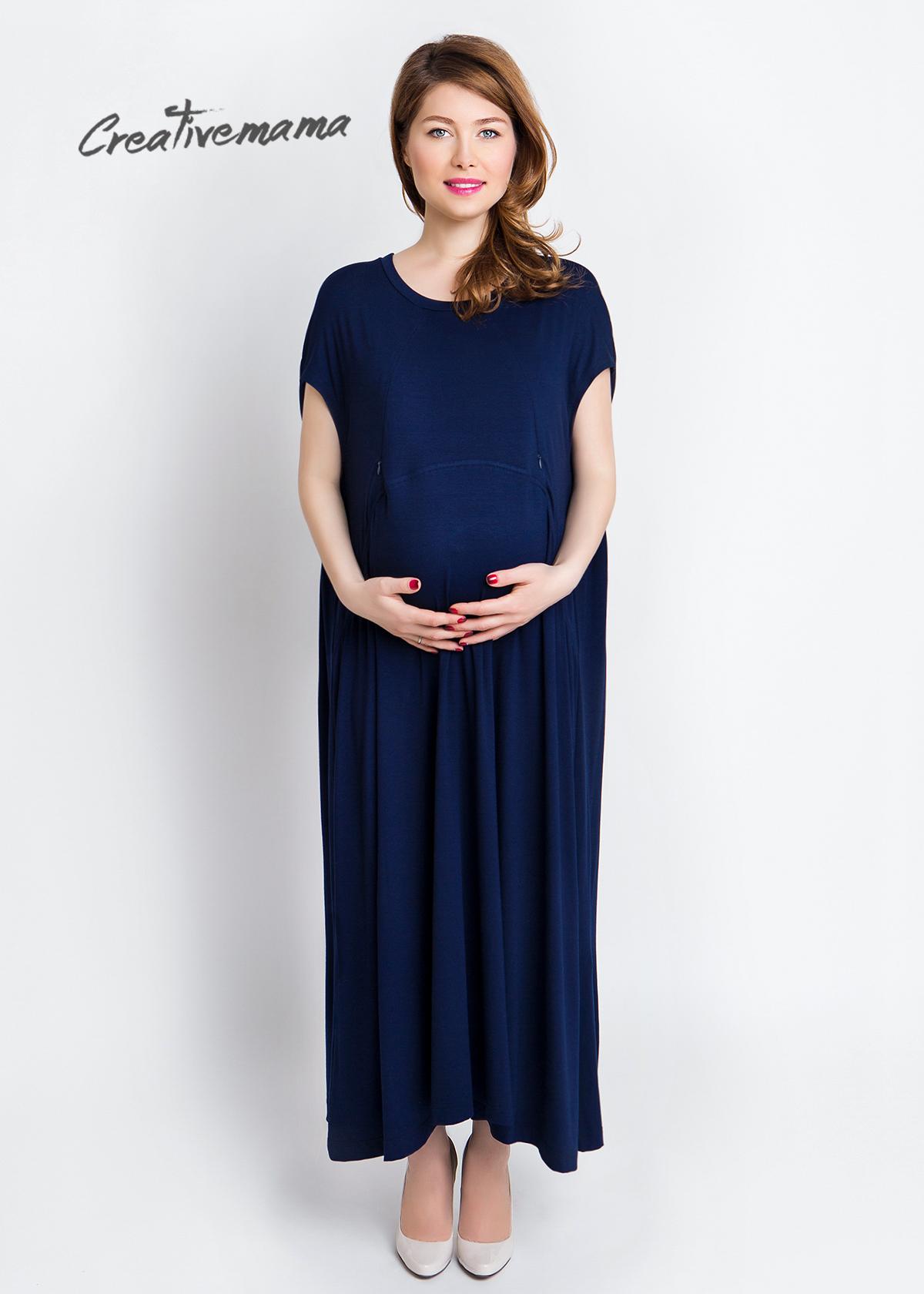 Фото: темно синие платья для беременных