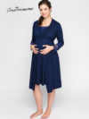 Фото: одежда для беременных - Комплект халат и ночная сорочка Royal