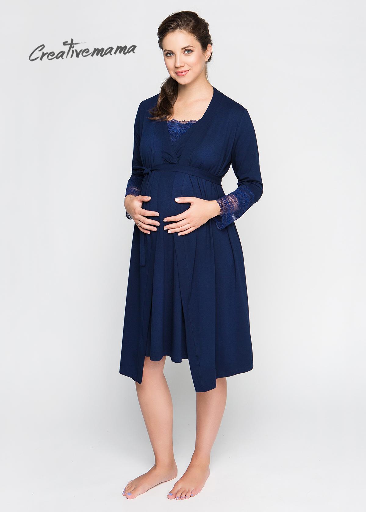 d35d7b8d67a8 Фото: одежда для беременных - Комплект халат и ночная сорочка Royal ...