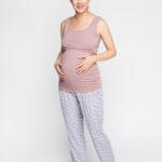Фото: Красивая майка для будущих и кормящих мам Rose (хлопок)