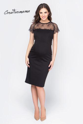 Фото: Короткое черное платье для беременных allure