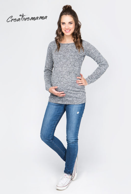 лонгслив для беременных и кормящих мам creativemama