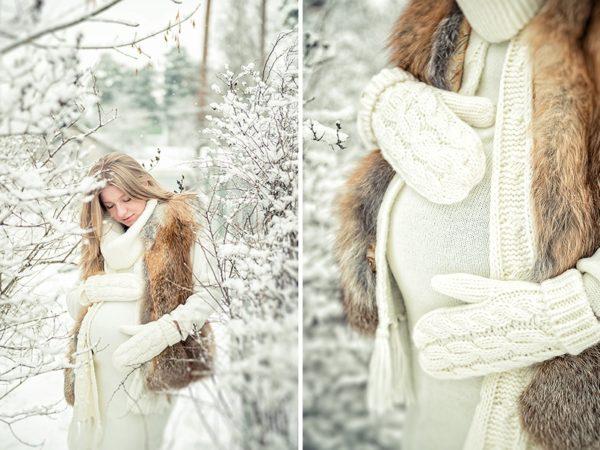 Фото: как одеватся беременным зимой