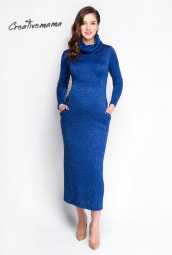 Фото: Красивое платье для беременных и кормящих мам Bleu