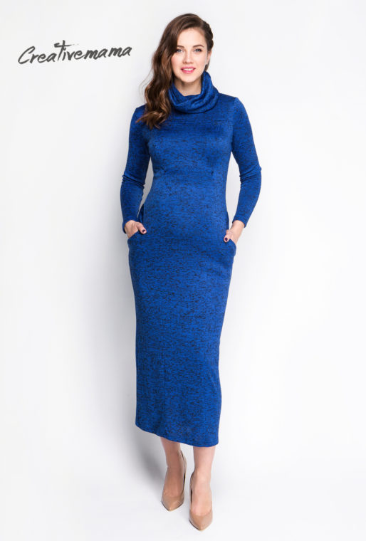платье для беременных и кормящих Bleu