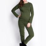 Фото: Теплые брюки для беременных Haki (хлопок с начесом)