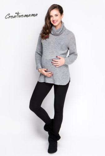 Фото: Модные утепленные леггинсы для беременных (на флисе) и Свитер ice-cream
