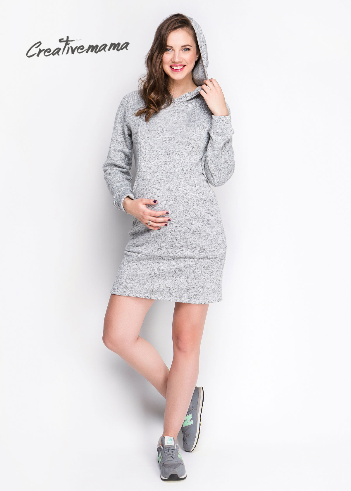 Фото: Теплое платье для беременных Mikki