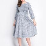Фото: Красивое платье для беременных и кормящих мам Sherelinn, заканчивается