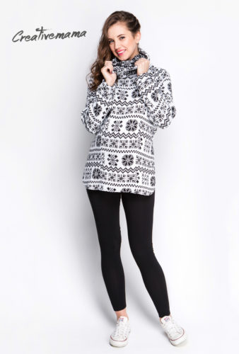 Фото: Теплый свитер для беременных и кормящих мам creativemama