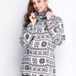 Теплый свитер для беременных и кормящих мам