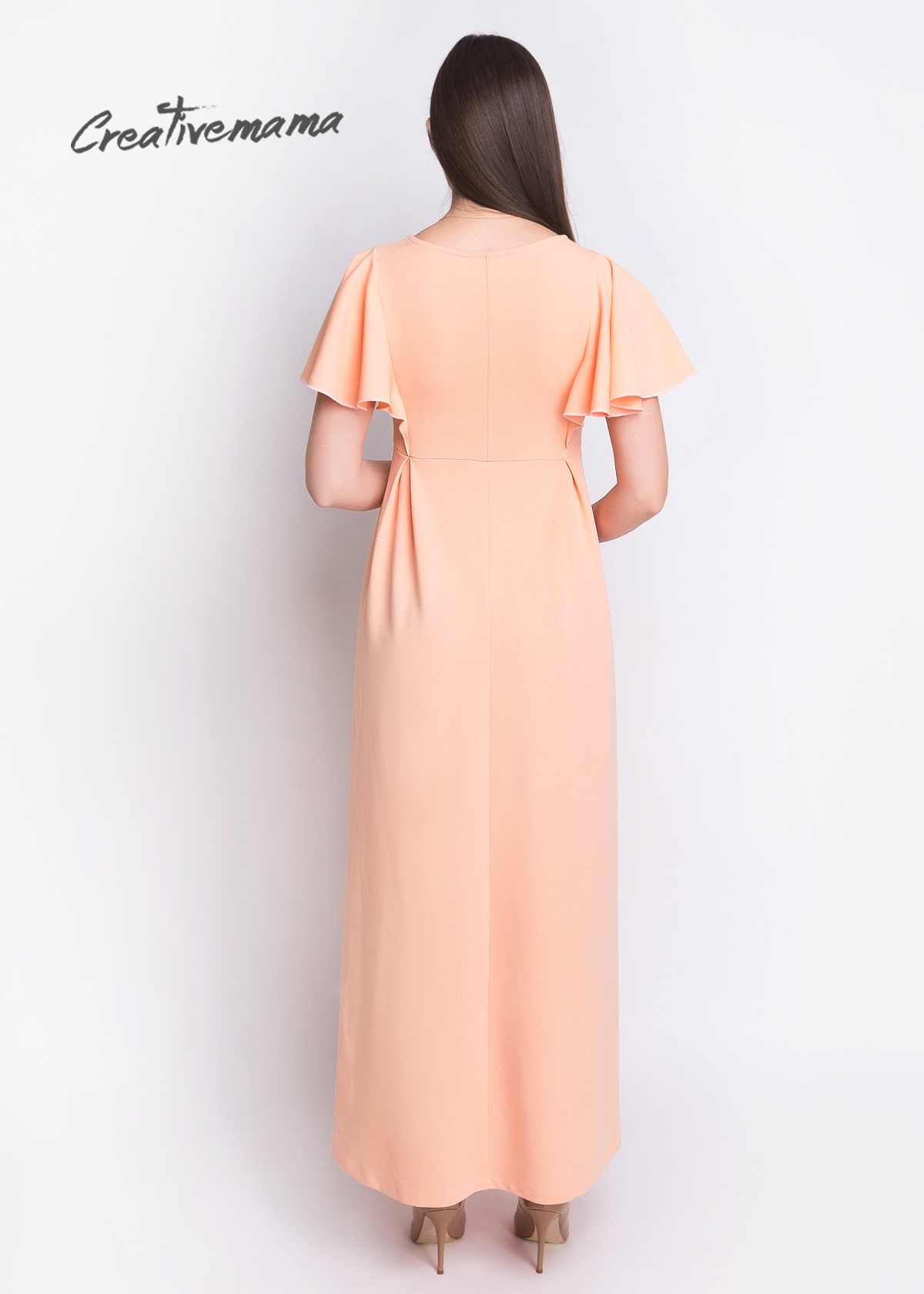 Фото: нарядное платья peach 1