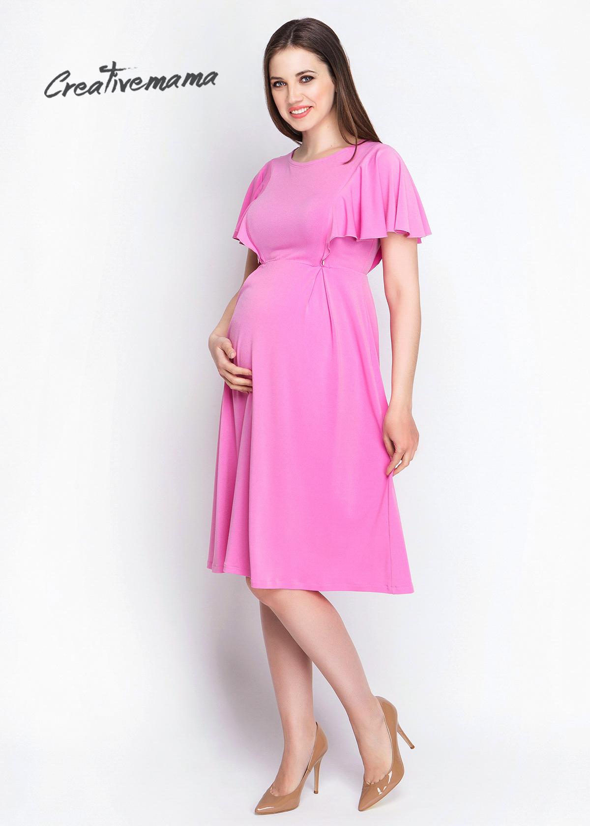 Фото: Красивое розовое платье для беременных
