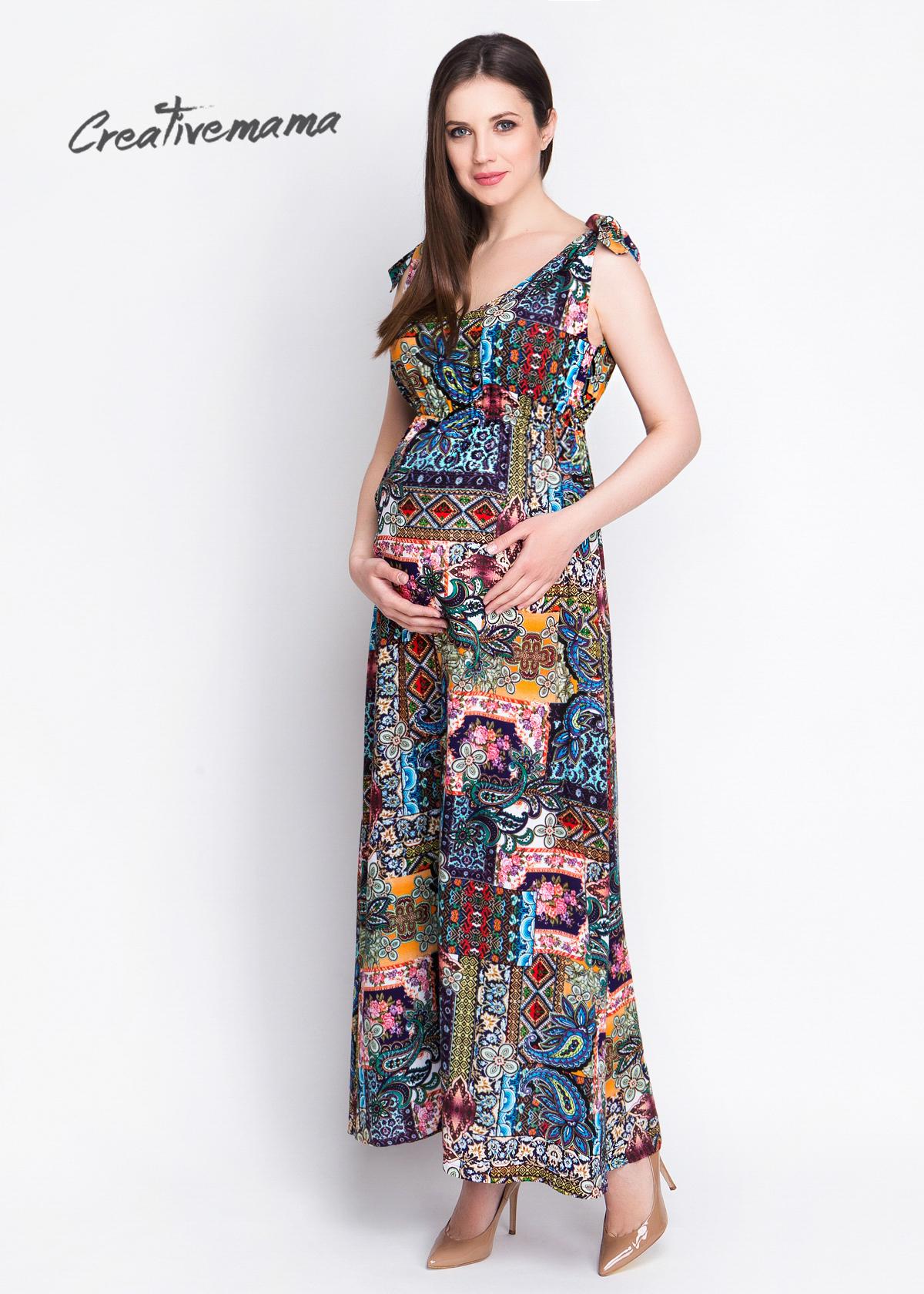 Фото: Цветный сарафан для беременных и кормящих Ethno Shic