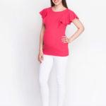 Фото:Яркая туничка для беременных Kim