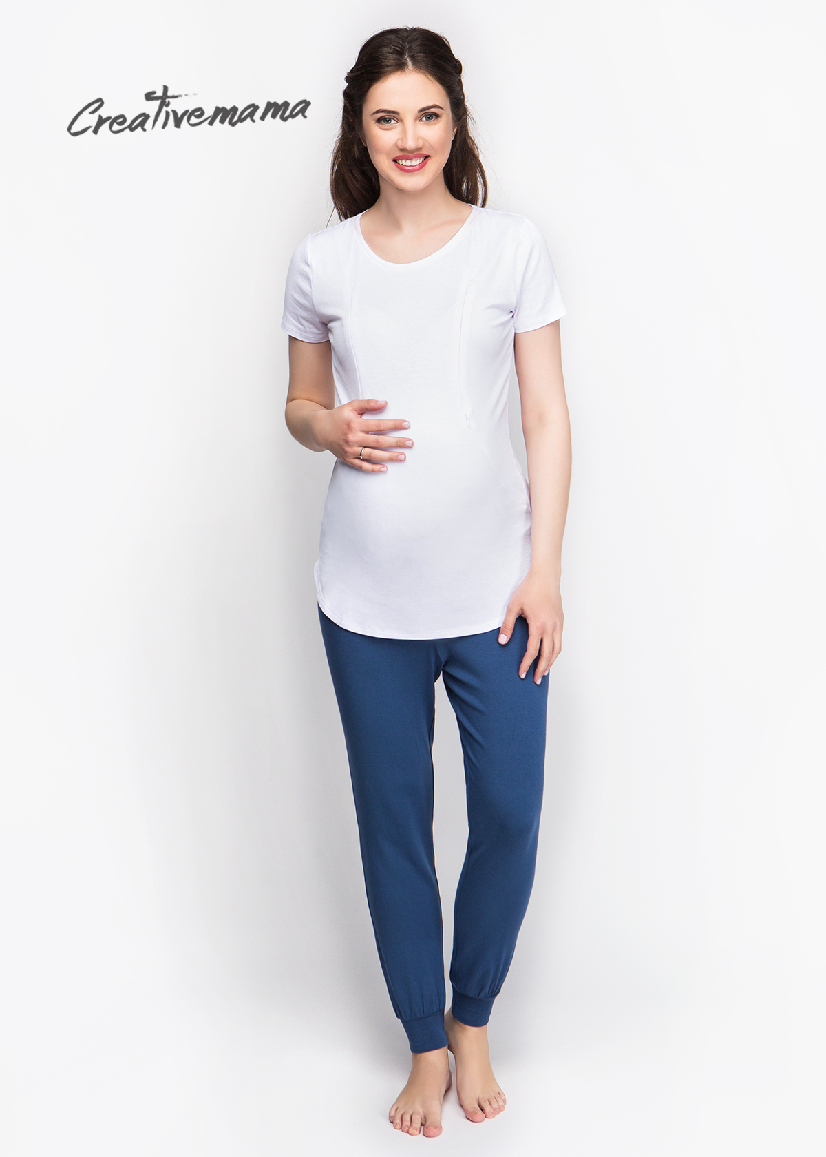 Фото: Модная футболка для беременных Siera (белая)