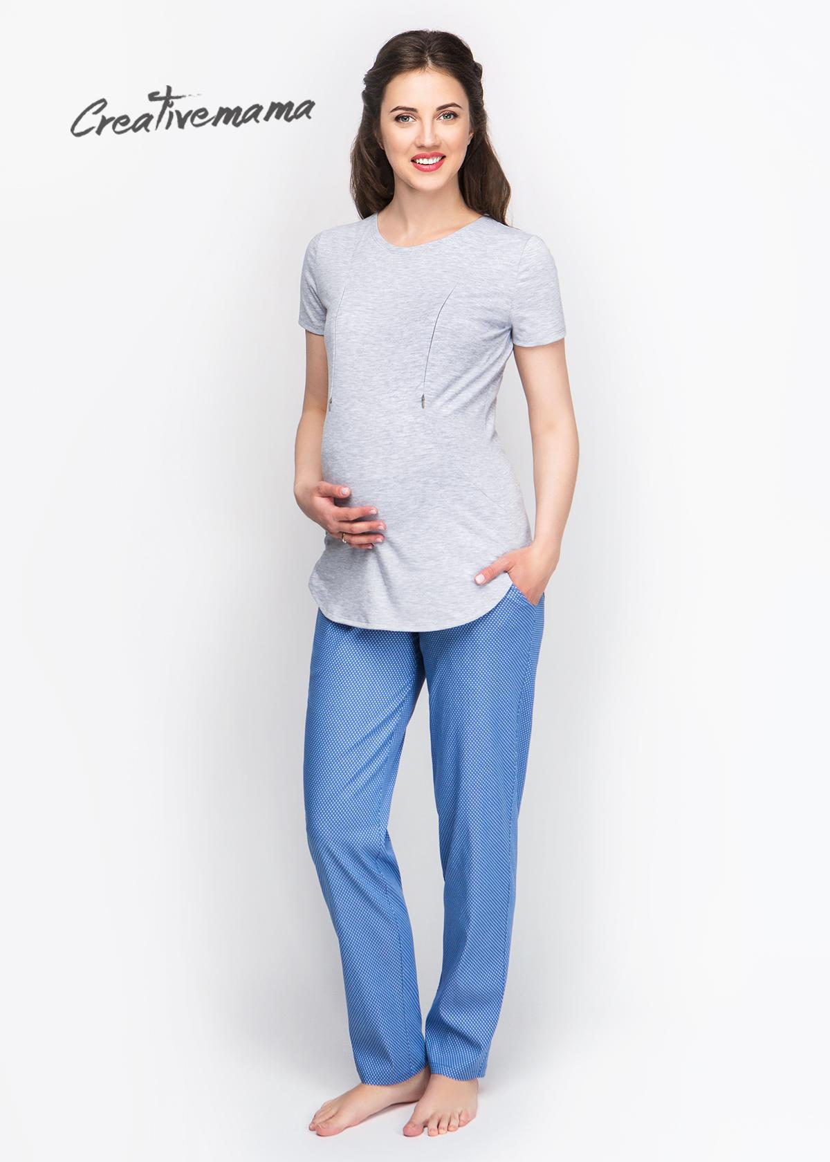 Фото: Серая футболка для беременных Soft Melange
