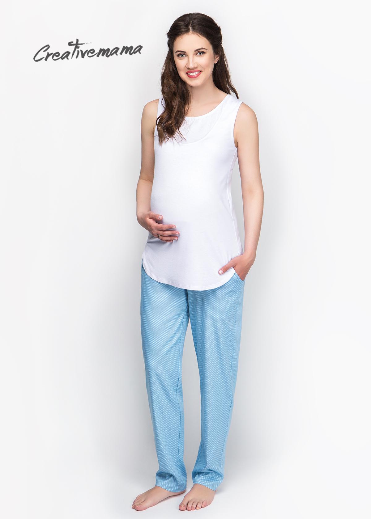 Фото: Белая майка для будущих мам New Blanco