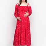 Фото: Красное платье для беременных Aleksandra