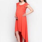 Фото: Оранжевое платье для беременной и кормящей мамы DIANA