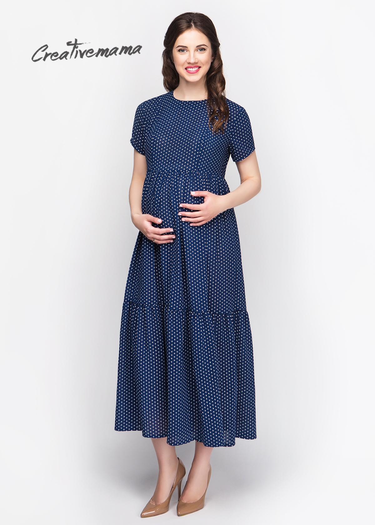 Фото: Темно синее платье для будущих мамочек Milledi