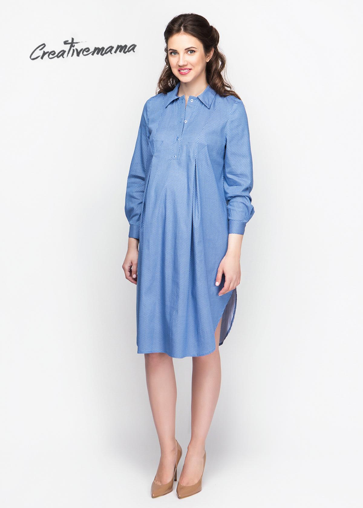 Фото: Платье рубашка для будущих мам Denim