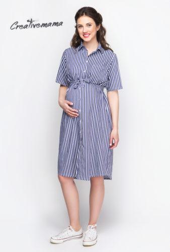 Фото: Легкое платье рубашка для беременных Selin