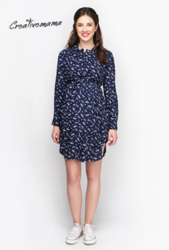 Фото: Платье рубашка для беременных Strekoza