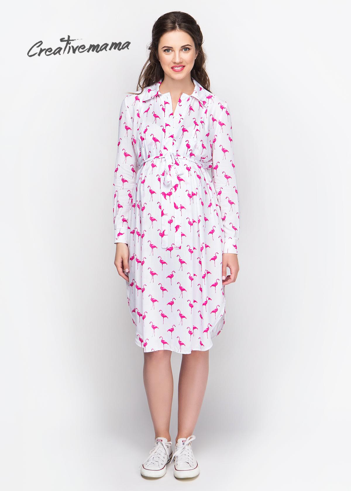 Фото: Платье рубашка Flamingo для беременных женщин