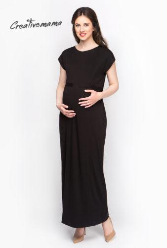 Фото: Черное платье для беременных Sandra