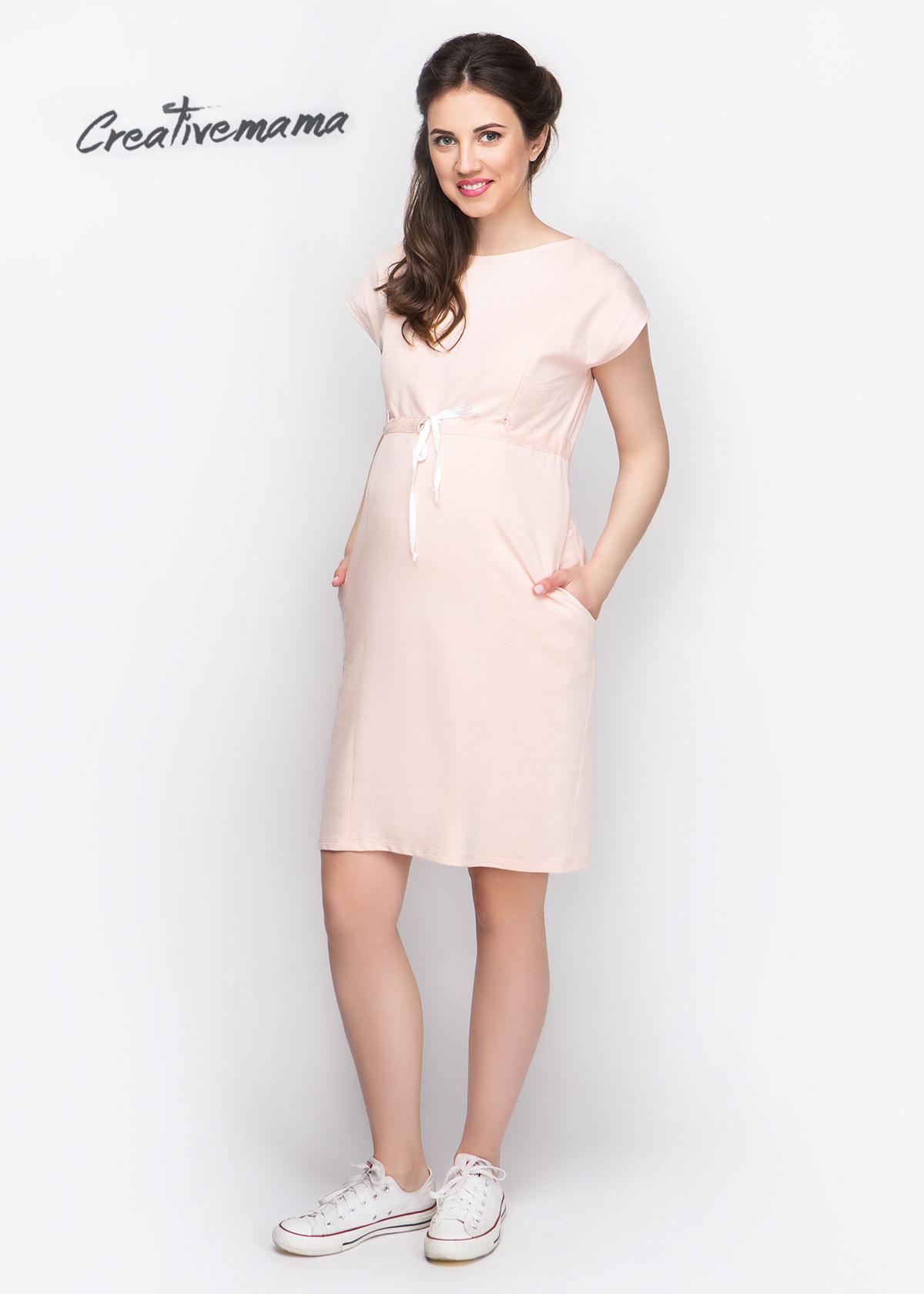 Фото: Короткое платье для будущих мам Zefirka