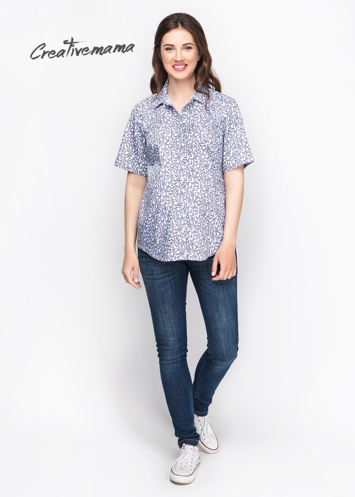 Фото: Рубашка для беременных с коротким рукавом Siri