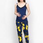 Фото: стильная одежда, Красивый синий топ для беременных и кормящих Light Night