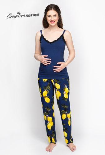 Фото: Красивый синий топ для беременных и кормящих Light Night