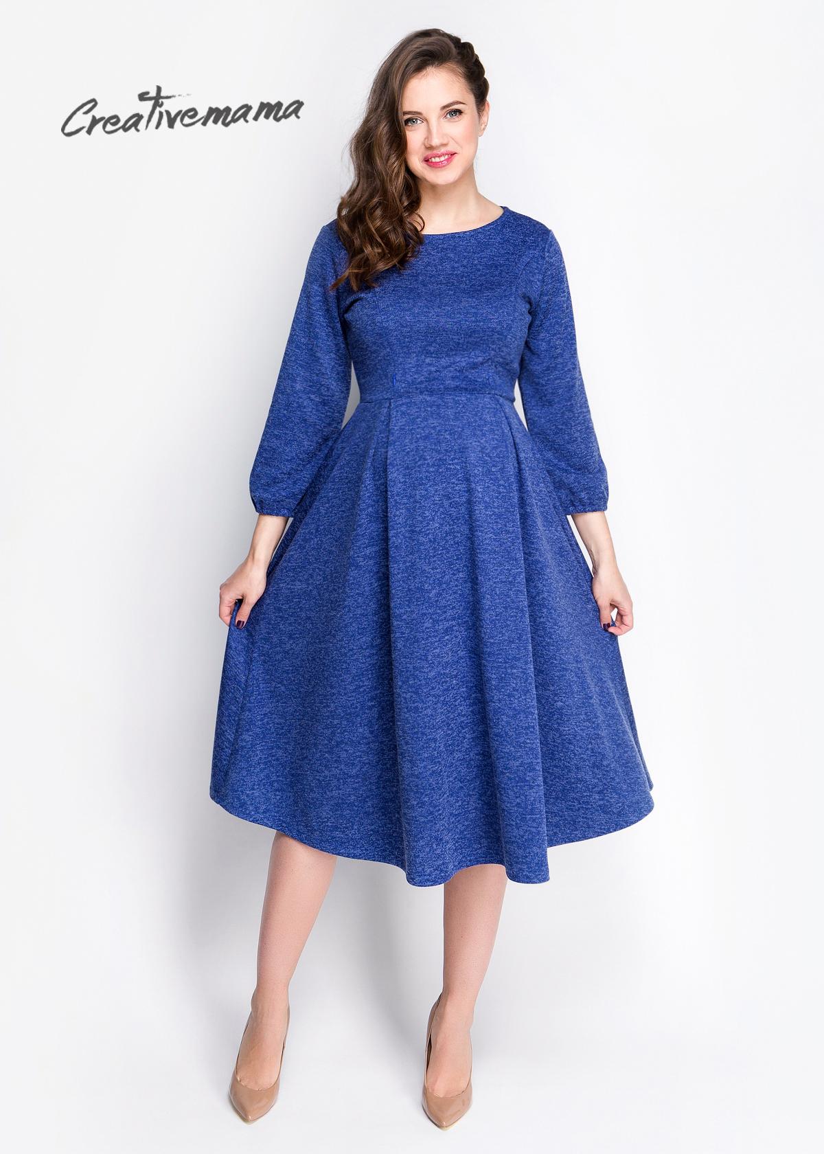 Фото: Синее платье для беременных Kristall2